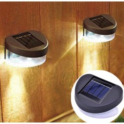 Outdoor Solar LED Garden Fence Lamp Light