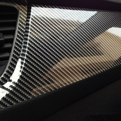 10 * 152 cm - 5D glossy carbon fiber vinyl film - car & motorcycle sticker