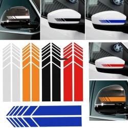 Car mirrors vinyl sticker - 15.3 * 2 cm - 2 pieces