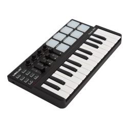 Mini draagbaar 25-toetsen USB-toetsenbord & Drum Pad MIDI-controller