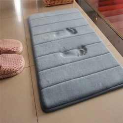 Bathroom mat - memory foam floor carpet - water absorption