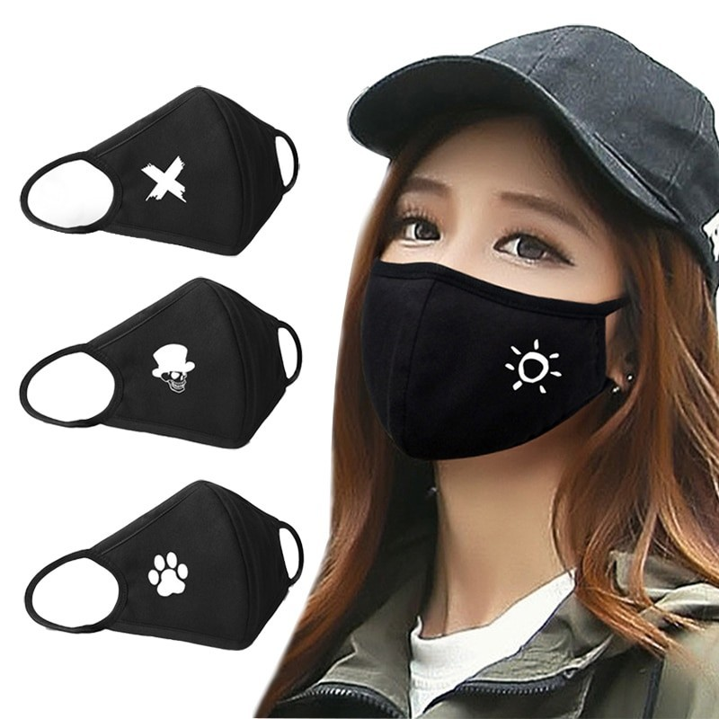 Protective anti-bacterial face mask - cotton
