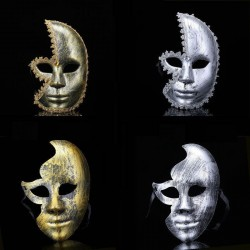 Antique silver & gold - Venetian mask - half face