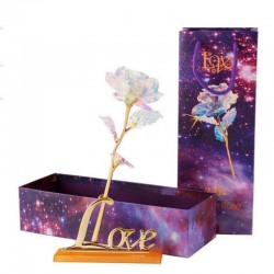 24K foil plated gold - rose with light