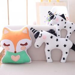 cute unicorn fox stuffed baby toys - soft kawaii animal shaped - pillow cartoon doll - cushion gift
