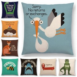 Cushion cover with printed animals - pillowcase 45 * 45 cm