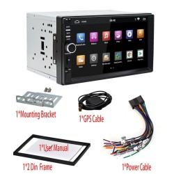2 Din Bluetooth Android 9 autoradio - WiFi - USB - GPS-navigatie - Mirrorlink - MP3 MP5