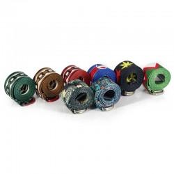 nylon belt ethnic style belts - bohemian wind printing unisex belt - geometric printing of clover nylon belt