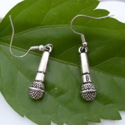 antique silver earring - jewelry creative microphone earring