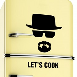 Kililaya Cut-out Vinyl Wall Decals Fridge Lets Cook Breaking Bad Removable DIY Home Decor Wallpaper