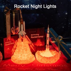 3D space shuttle - rocket-shaped night lamp