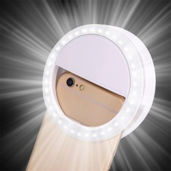 LED Ring Flash Universal Selfie Light Portable Mobile Phone 36 LEDS Selfie Lamp Luminous Ring Clip F