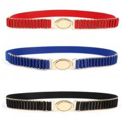 New Brand Belts For Women Fashion Beauty Round Metal Buckle Belt Vintage Lady Elastic Designer Waist