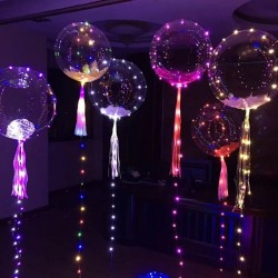 NEW LED Balloon Luminous Transparen Air Balloon String Light Round Bubble Clear Balloon Christmas We