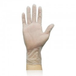 50 - 100 pieces - disposable transparent gloves - for food & medical & surgical use