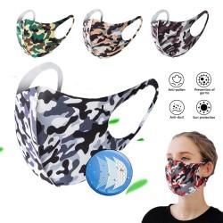 Modische Mund- / Gesichtsmaske - Staubschutz - atmungsaktiv - waschbar - Schwammmaske