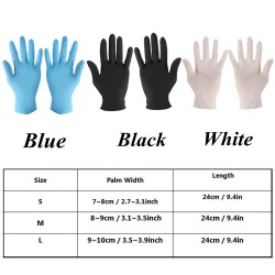 Disposable nitrile gloves - anti-bacterial protective latex gloves