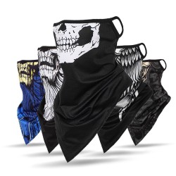 3D skull - scarf - neck / face cover - on-ear loops - windproof - breathable
