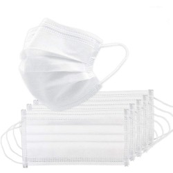 Medical mouth/face mask - disposable - anti bacterial - white