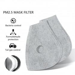 PM25 - Aktivkohle-Ersatzfilter für Mund- / Gesichtsmaske mit doppeltem Luftventil - 10 Stück