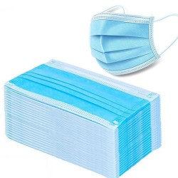 Disposable face/ mouth masks - 3 layer - anti-dust - anti bacterial