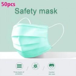 Wegwerp gezichtsmaskers / mondmaskers - 3 lagen - antistof - antibacterieel - premium groen