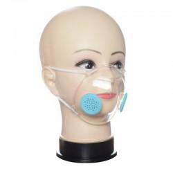 Transparente Gesichts- / Mundmaske mit PM2.5-Filtern - staubresistent und bakteriell - Lippenmessung