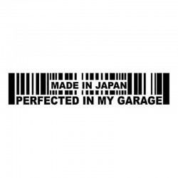 15.2 * 3cm - Made In Japan Perfected In My Garage - Autoaufkleber