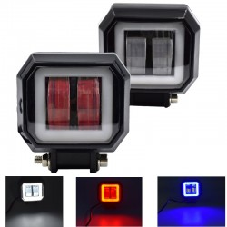 20W - 12V - 6000K - DRL - Halo - Led driving light bar - angel eyes for motorcycle - SUV - truck - ATV - tractor