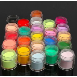 Nail Art - acrylic nail powder - 24 colours
