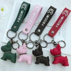 Soft resin French bulldog - keychain