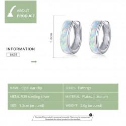 925 sterling silver earrings with opal
