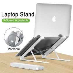 MacBook / laptop pc plastic stand - with silica gel protection - adjustable & foldable