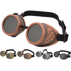 Vintage - steampunk goggles - halloween glasses
