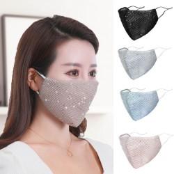 PM2.5 - anti-stof - antibacterieel - herbruikbaar - gezichts- / mondmasker met pailletten - wasbaar
