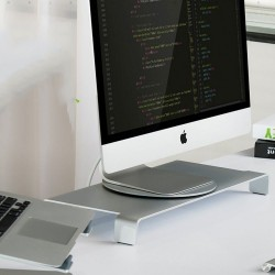 Aluminum laptop holder - swivel stand - 360 degree