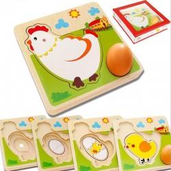 Chicken Egg Wooden Puzzle - Kids