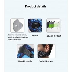 PM2.5 mondkap met actieve koolfilter - dubbele luchtklep - anti stof en vervuiling - mondmasker