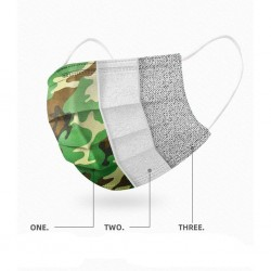 Wegwerp antibacterieel medisch gezichtsmasker - mondmasker - mondkapje - 3-laags - camouflage