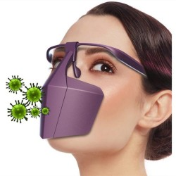 Fully sealed - anti-saliva - anti-bacterial - face - mouth - nose - plastic protective mask