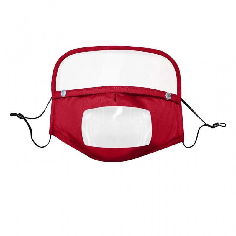 Gezichtsmasker voor kinderen met afneembaar oogschild - zichtbare mond - herbruikbaar - wasbaar