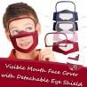 Gesichtsmaske für Kinder mit abnehmbarem Augenschutz - sichtbarer Mund - wiederverwendbar - waschbar