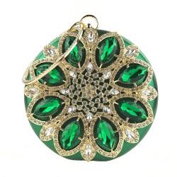 Luxury diamond - small purse - crystal flower