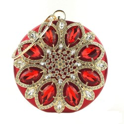Luxury diamond - small purse - crystal flower