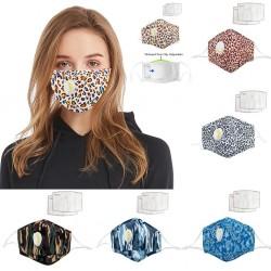 Gezichts- / mondmasker met luchtventiel - met actieve kool PM2.5 filters - wasbaar