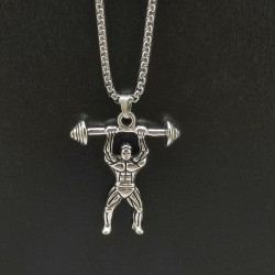 Weightlifting muscle - chain - necklace