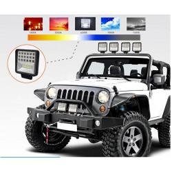 LED bar - spot light lamp for off-road cars - tractors - SUV - trucks - 72W - 126W / 12V - 24V