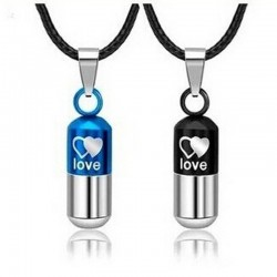 Love pill - capsule pendant - unisex