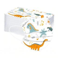 50 stuks - wegwerp antibacterieel medisch gezichtsmasker - kindermondmasker - 3-laags - dierenprint