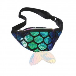 Fish scale fanny pack - waist bag - shiny - 4 colours